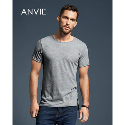 Anvil Adult Lightweight Long and Lean Tee White